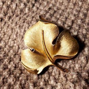 Trifari Gold Leaf